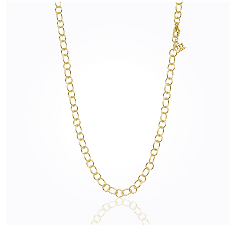 18K Yellow Gold Ribbon Chain 32""