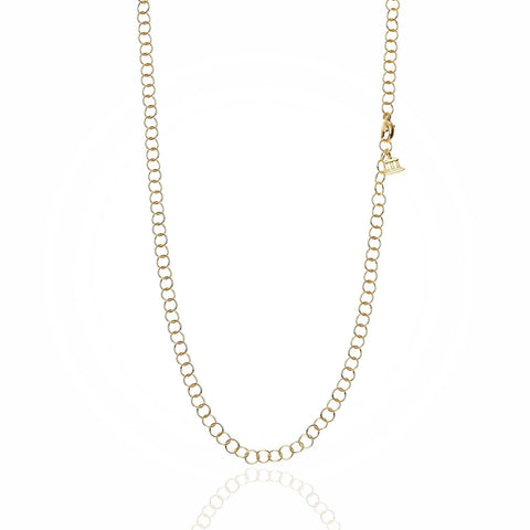 18K Yellow Gold Small Round Chain