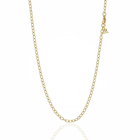 18K Yellow Gold Extra Small Oval Chain