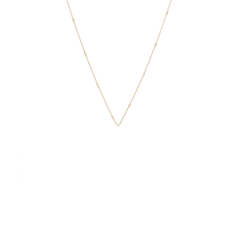 14K Yellow Gold Cable and Bar Chain Necklace