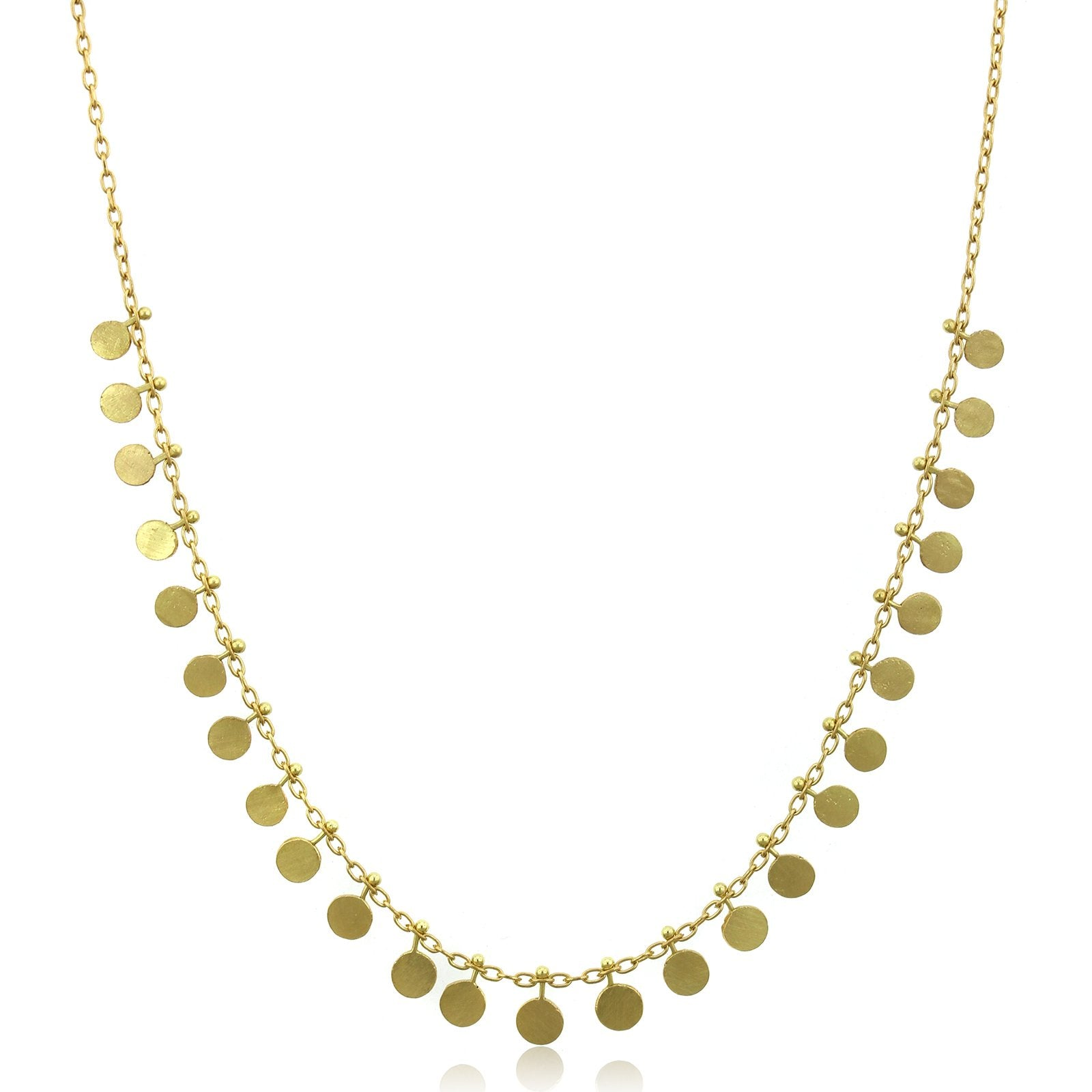 18K Yellow Gold Dot Necklace
