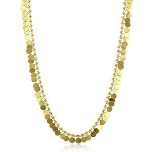18K Yellow Gold Full Dot Necklace