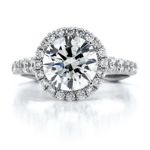 18K White Gold Halo Engagement Ring Setting
