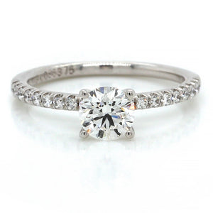 18K White Gold FlyerFit Micro Pave Engagement Ring