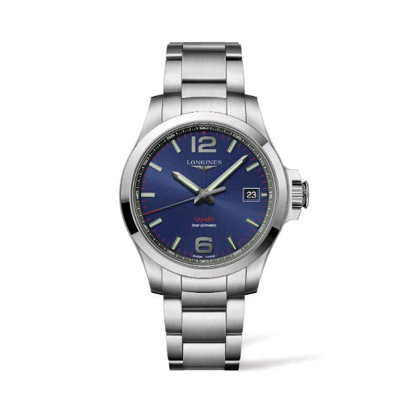 Conquest VHP Stainless Steel Blue Dial Watch