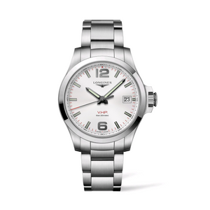 Conquest VHP Stainless Steel White Dial Watch