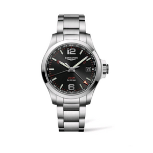 Conquest VHP Stainless Steel GMT Black Dial Watch