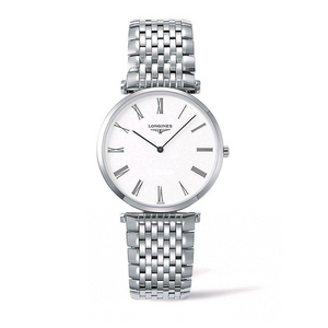 La Grande Stainless Steel White Dial Watch