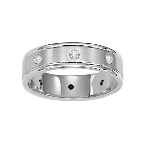 Men S White Gold Wedding Bands Long S Jewelers