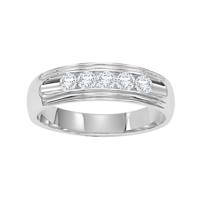 14K White Gold Comfort Fit 2.5mm