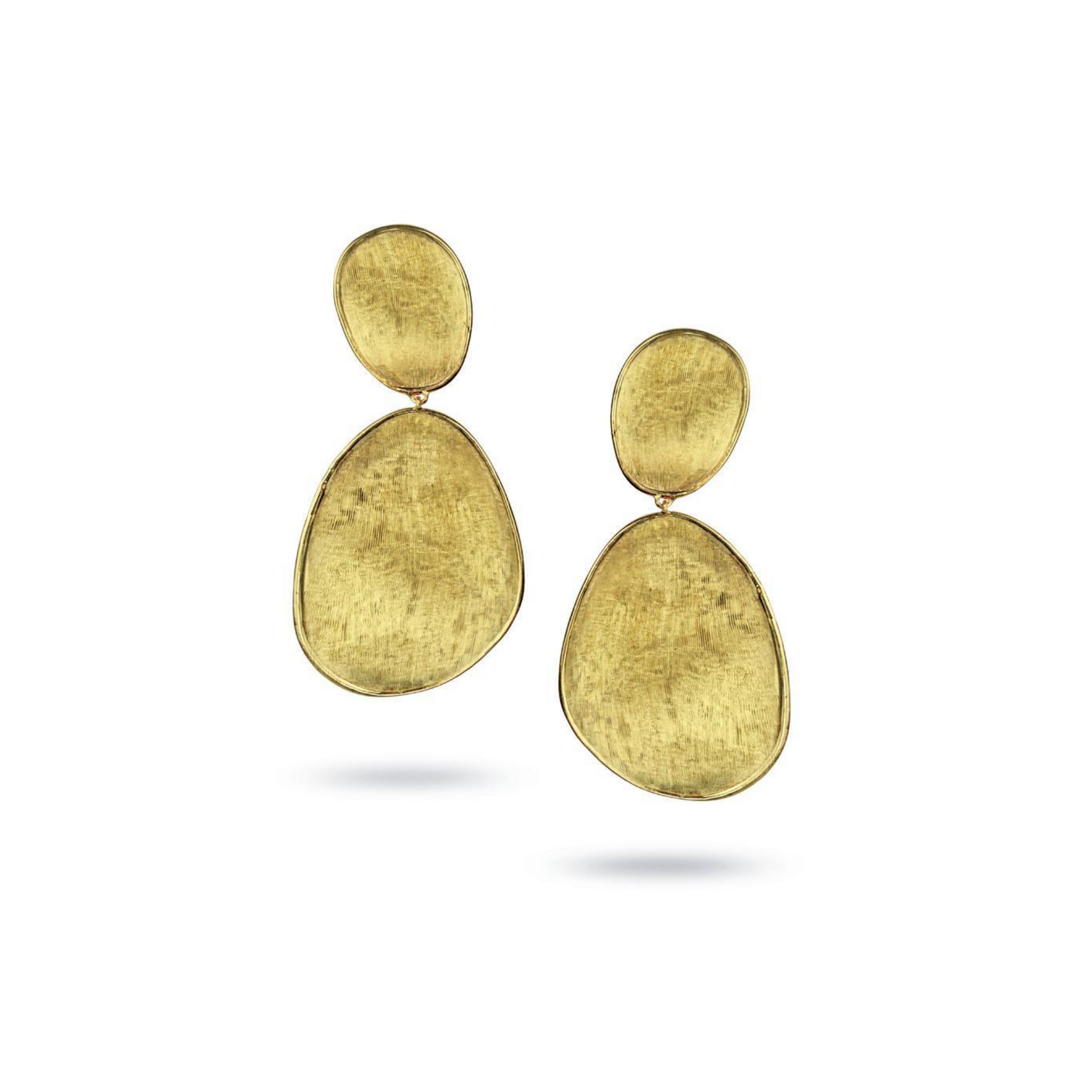 Lunaria 18K Yellow Gold Large Double Drop Earrings
