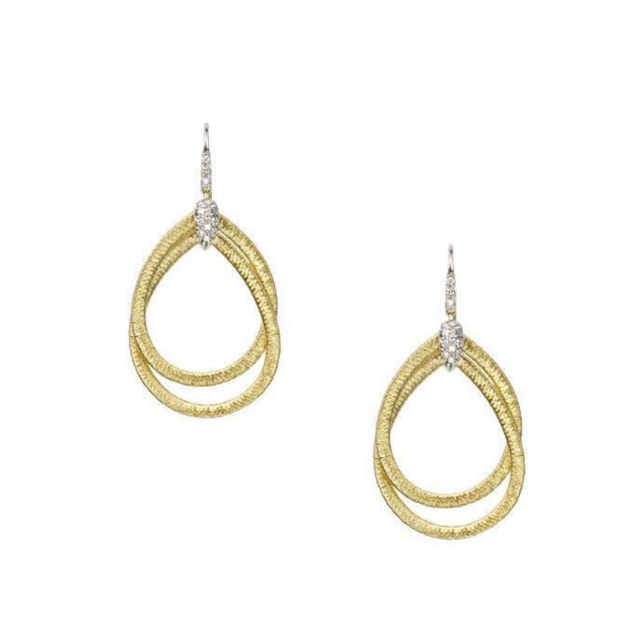 Cairo 18K Yellow Gold & Diamond Small Drop Woven Earrings