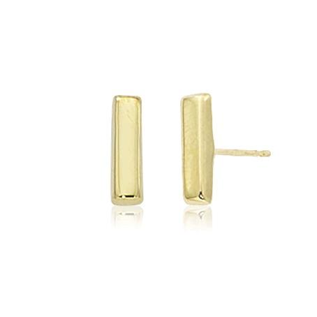 14K Yellow Gold Small Bar Studs