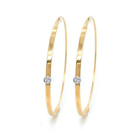 Sterling Silver Cape Cod Hoop Earrings