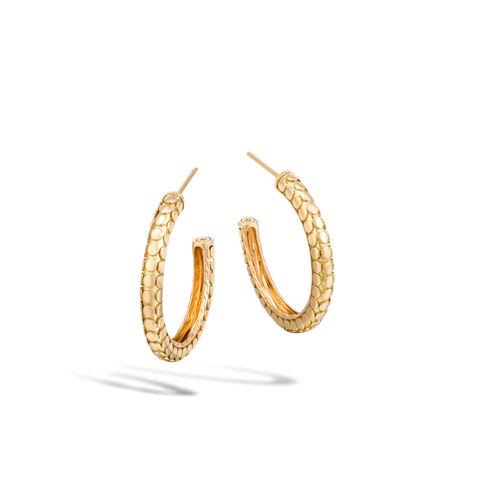John Hardy 18K Yellow Gold Dot Hoop Earrings