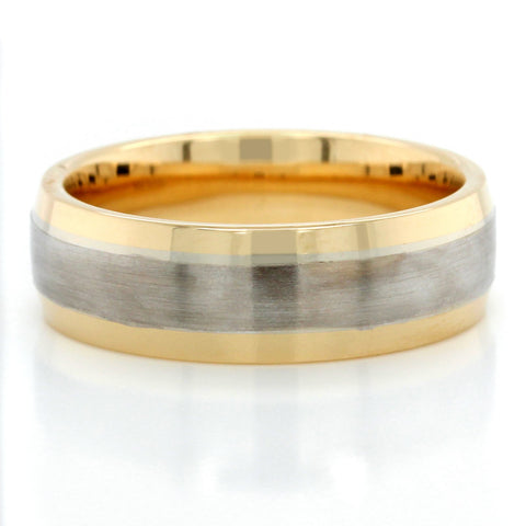 14K Two-Tone Domed Comfort Fit Band