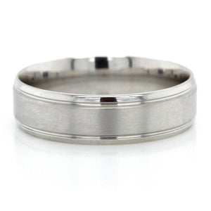 Platinum Polished Satin Band