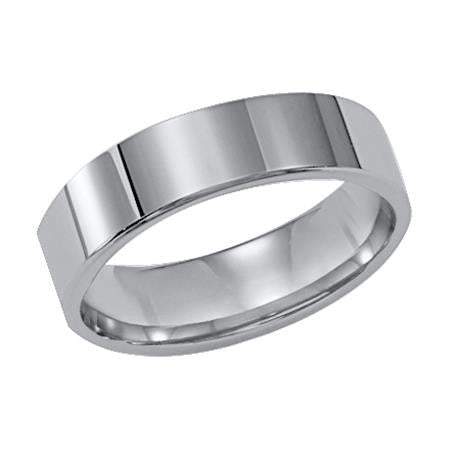 Men's Gray Tungsten Carbide Band 6mm