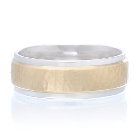 Men's 14K Two-tone Band 7.5mm