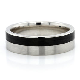 Platinum Low Dome Wedding Band 6mm