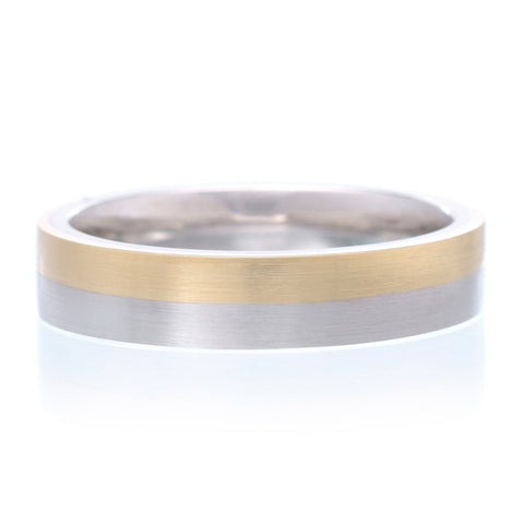 Men's 14K Two-tone Band 5mm