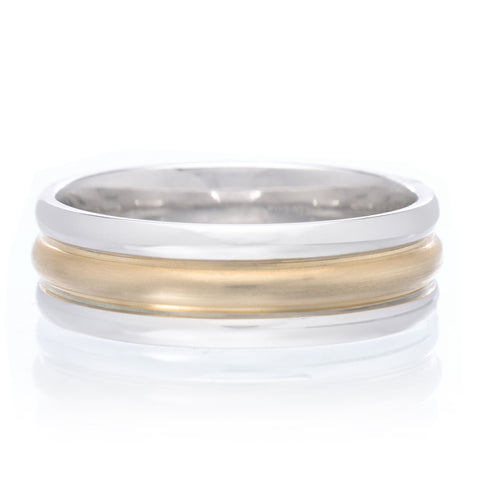14K Yellow Gold 4mm Low Dome Band with Milgrain