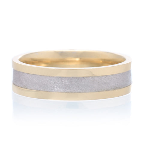 Men's 14K Two-tone Band 6mm