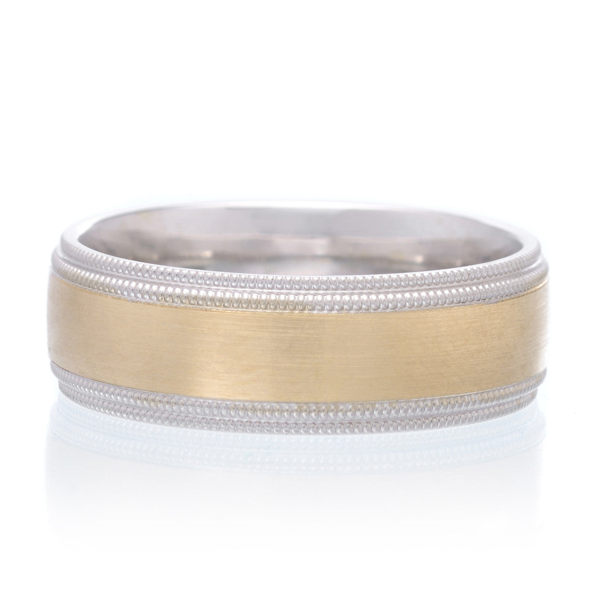 Men's 14K Two-tone Band 7mm