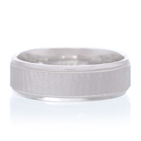 14K White Gold 5mm Low Dome Band