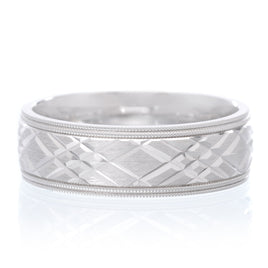 14K White Gold 6mm Comfort Fit Band