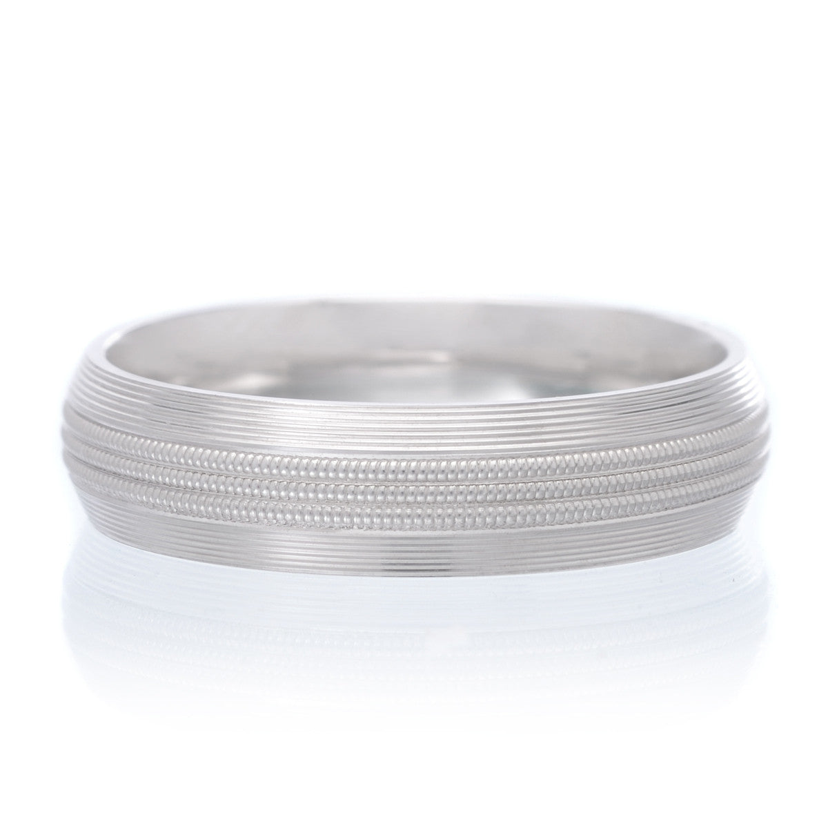 Men's 14K White Gold Band 5mm