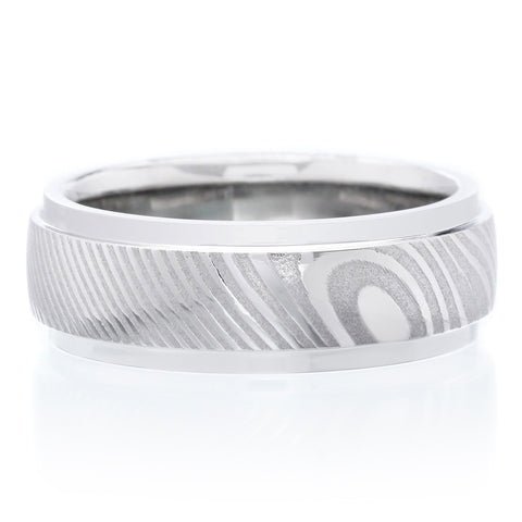 Stainless Steel 7mm Band with Stepped Sides