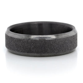 Tantalum 7mm Band with A Wired Center and High Polish Edges