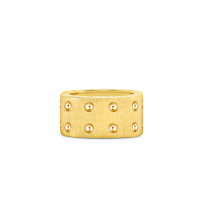 18K Yellow Gold Pois Moi Satin Ring