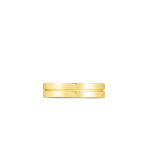 18K Yellow Gold Portofino 2 Row Ring