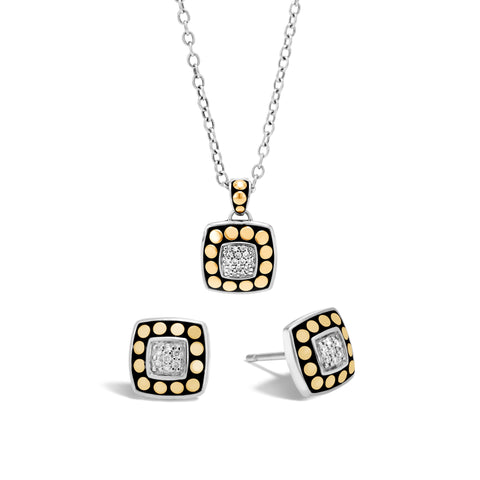Dot Gold and Silver Diamond Gift Set