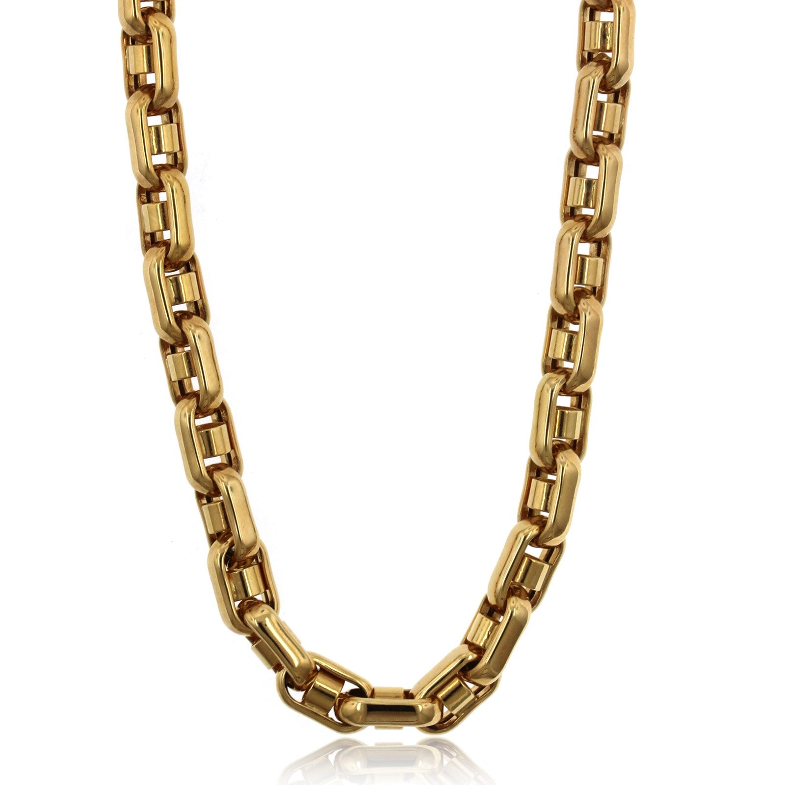14K Yellow Gold Bullet Chain