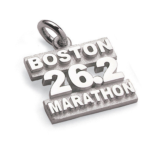 Sterling Silver Boston Marathon 26.2 Charm