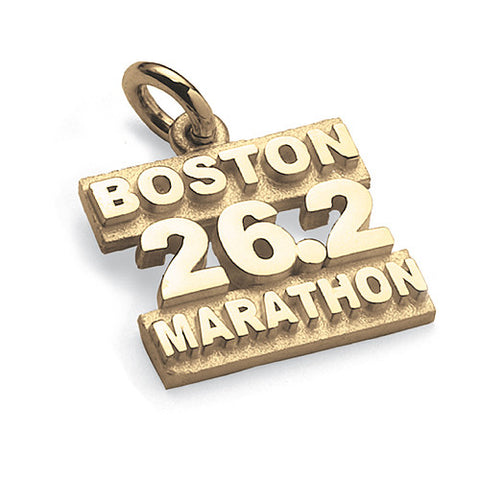 Sterling Silver Boston Marathon 26.2 Pendant on Sport Cord