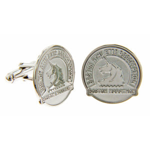 Boston Marathon® Sterling Silver Cuff Links with Stylized Unicorn Logo