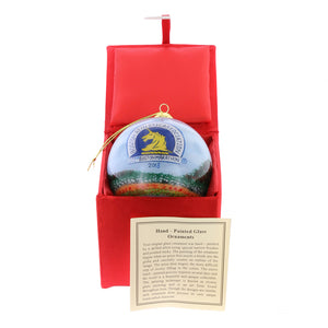 2018 Boston Marathon® Boston Public Garden Commemorative Glass Ornament