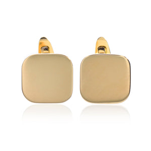18K Yellow Gold Cushion Shaped Cufflinks