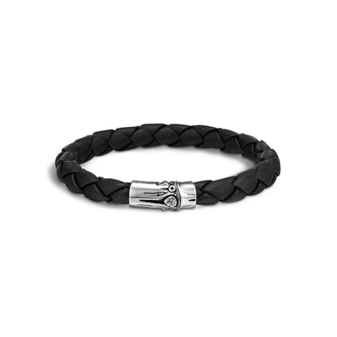 Bamboo Woven Leather Bracelet