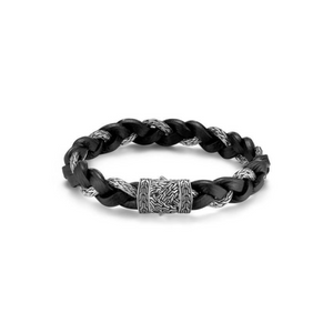 Classic Chain Braided Leather Bracelet