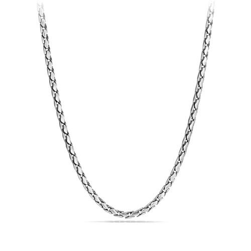 Medium Fluted Chain Necklace, 5mm