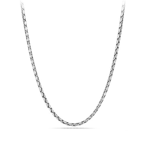 Small Fluted Chain Necklace, 3.8mm