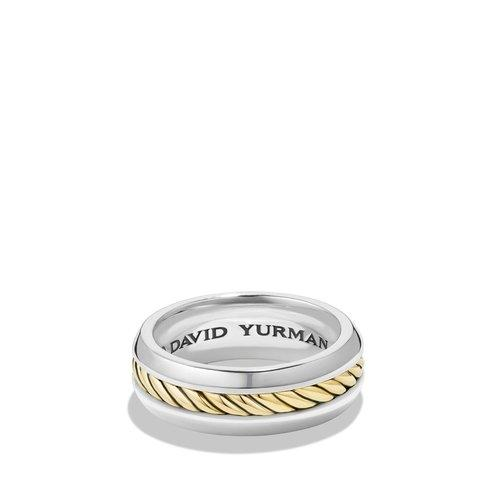 Cable Classic Ring with 18K Gold