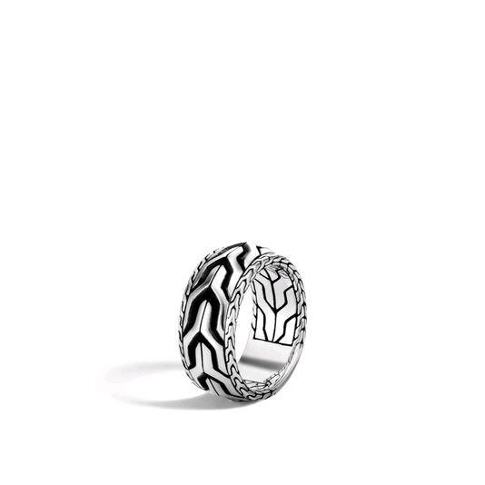 Asli Classic Chain Link Silver Band Ring
