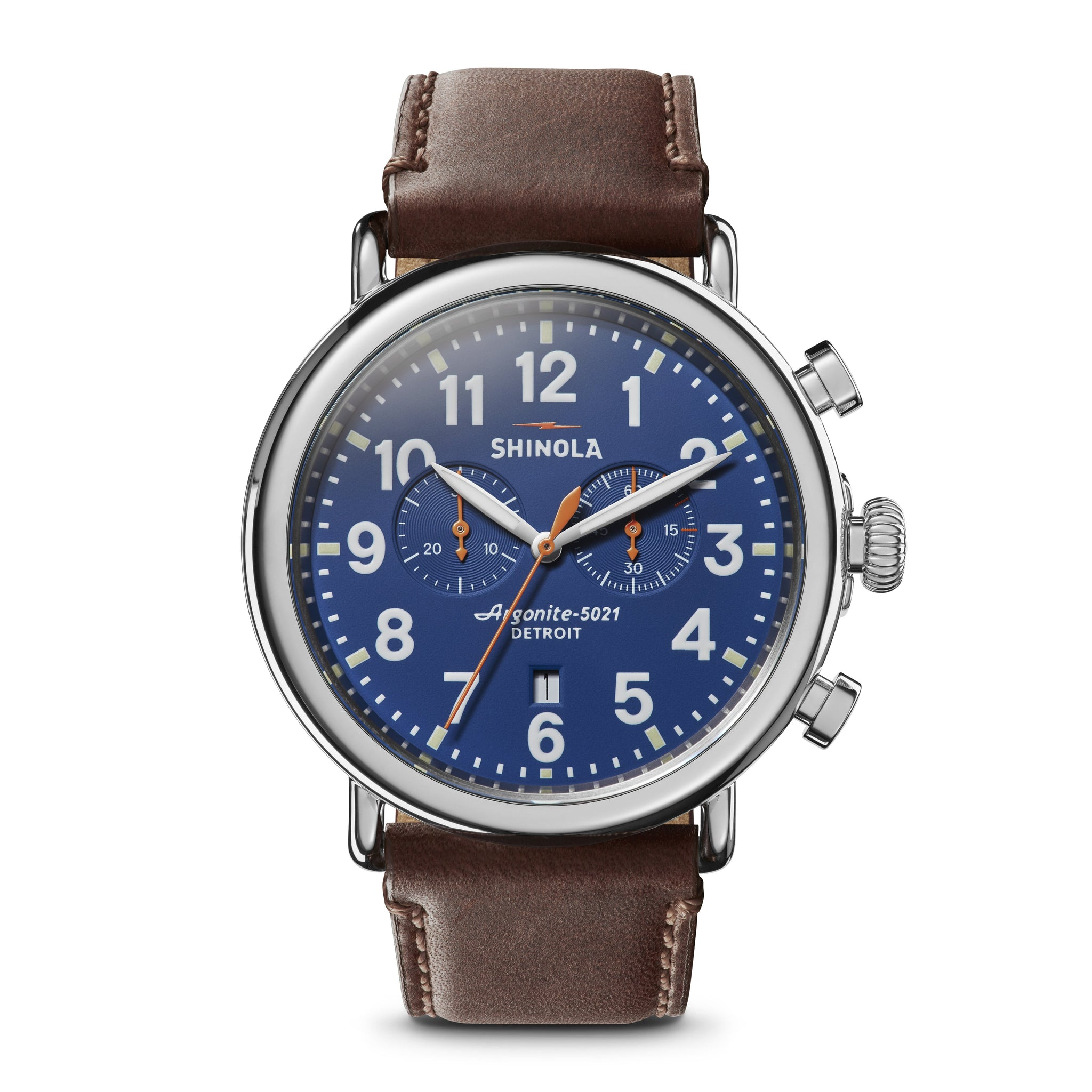 The Runwell 47MM Blue Dial Chronograph Watch