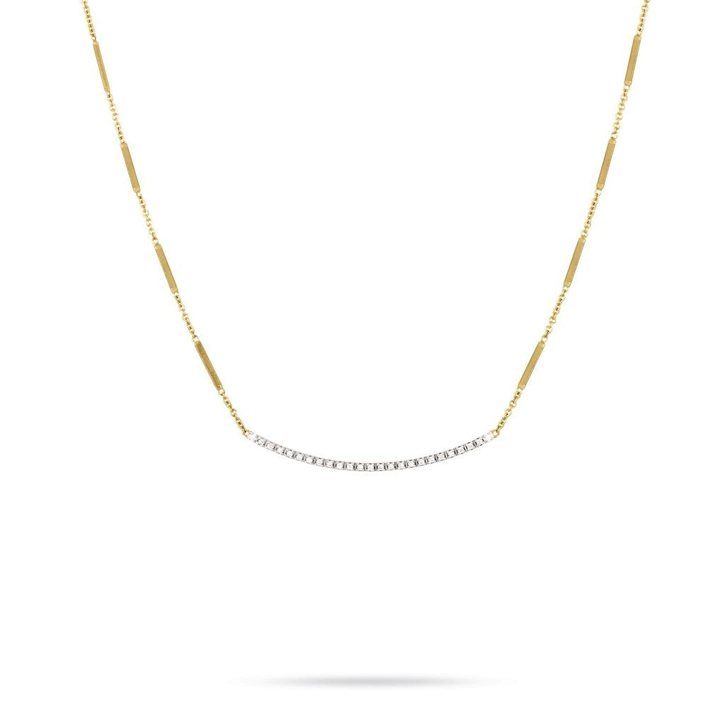 Goa 18K Yellow Gold & Pave Diamond Bar Necklace